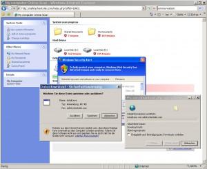 Bis zuletzt versucht sich die gefährliche Malware zu installieren...