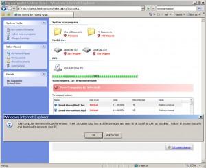Malware Installation mit dem Intenet Explorer