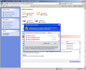 Die nächste durch ein JS-Script servierte Falle: Ein Windows Security Alert