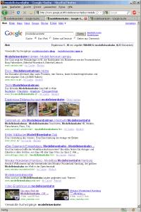 SERPs für Modelleisenbahn auf www.google.at