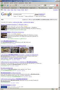 SERPs für Modelleisenbahn auf www.google.ch