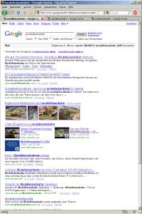 SERPs für Modelleisenbahn auf www.google.de